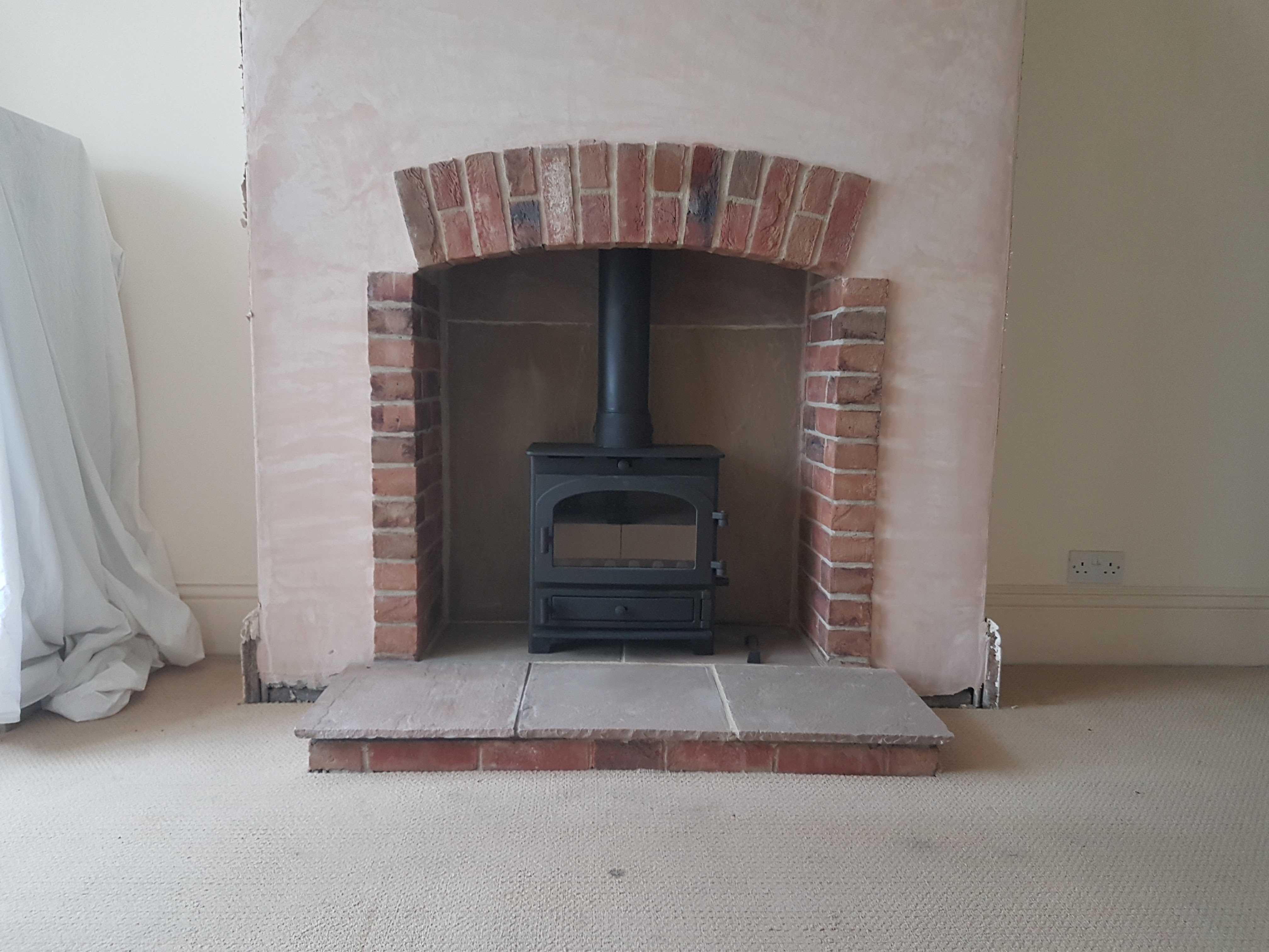 Parkray Derwent on Indian sandstone hearth