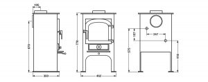 Clearview 400P Dimensions and specifications Hancock Stoves and Flues