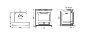 Clearview Vision Inset dimensions and specifications Hancock Stoves and Flues