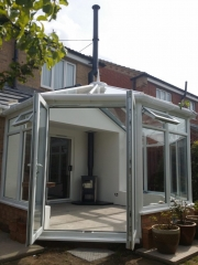 Solution 400 in conservatory Hancock Stoves and Flues