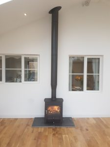 Clearview Vision Defra Approved with twin wall flue